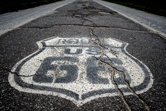 Free THe Famous Route 66 Painted On The Road Royalty Free Stock Photography - 146986357