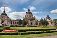 The Famous Szechenyi (Szechenyi) Thermal Baths, Spa And Swimming Royalty Free Stock Photos