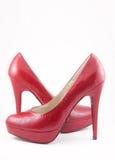 The Feminine Loafers On High Heel. Stock Photos