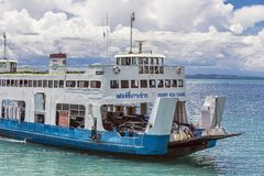 The Ferry Boat Arriving To Koh Chang Island Royalty Free Stock Images