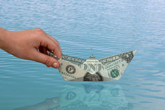 The First Dollar Stock Image