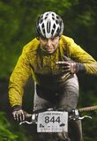The First Escape, Mountain Bike Contest Held In Romania 2011 Royalty Free Stock Images