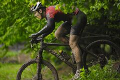 Free The First Escape, Mountain Bike Contest Held In Romania 2011 Stock Image - 175121151