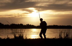 Free The Fisherman At Sunset Royalty Free Stock Image - 20535436
