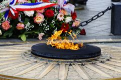 The Flame Of The Unknown Soldier In Paris Royalty Free Stock Image