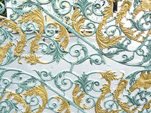 Free The Flower Pattern Design Of Alloy Or Metallic Gate Stock Images - 92829174