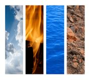 The Four Elements Royalty Free Stock Photography