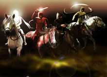 The Four Horsemen Of The Apocalypse Stock Images