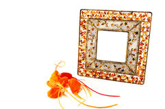 The Frame Metal With Stones Stock Images