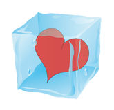 The Frozen Cube In Which The Heart Royalty Free Stock Image