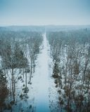 The Frozen Par Force Landscape In North Zealand, Denmark, Which Is On UNESCO. Royalty Free Stock Photography