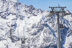 Free The Funifor Ropeway Lift In Saas-Fee, Switzerland Royalty Free Stock Photography - 106053427
