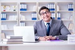 Free The Funny Businessman Clown Acting Silly In The Office Stock Photography - 97638702