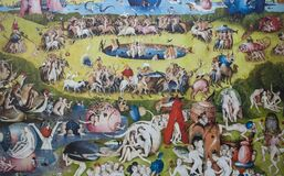 Free The Garden Of Earthly Delights Triptych, Detail, 1490 Royalty Free Stock Photos - 188546048