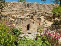 Free The Garden Tomb, Entrance To The Tomb In Jerusalem, Israel Royalty Free Stock Image - 131566416
