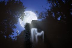 The Ghost Of The Moon Royalty Free Stock Photography