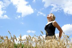 The Girl In A Field Royalty Free Stock Photos
