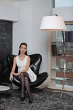 The Girl In The Armchair Royalty Free Stock Photos