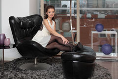 The Girl In The Chair Royalty Free Stock Images