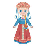 The Girl In The Russian National Suit. Historical Clothes Royalty Free Stock Photo