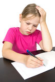 The Girl Makes The Lessons Stock Photography