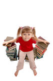 The Girl With Books Royalty Free Stock Photos