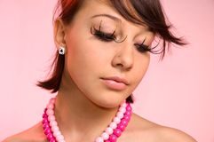 The Girl With False Eyelashes Royalty Free Stock Photo