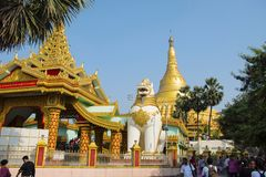 The Global Vipassana Pagoda. Meditation Hall Near Gorai, North-west Of Mumbai Royalty Free Stock Photo