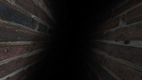 The Gloomy Corridor. Dark And Gloomy, Full Of Mysteries, The Corridor 41 Stock Photo