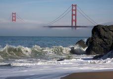 The Golden Gate Bridge In The Morning Fog Royalty Free Stock Photos