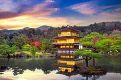 Free The Golden Pavilion. Kinkakuji Temple In Kyoto, Japan Stock Images - 106427744