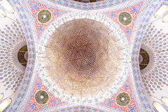 The Grand Chandelier And Mosque Dome Royalty Free Stock Photo