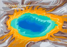Free The Grand Prismatic Spring In Yellowstone National Park Stock Photography - 177423052