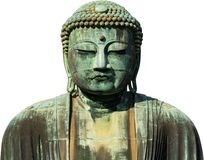 Free The Great Buddha Bronze Statue Isolated On White Background At Kotoku-in Temple In Kamakura, Japan Royalty Free Stock Images - 168576099