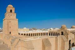 Free The Great Mosque Of Kairouan. The Aesthetics Signified The Great Mosque And Kairouan City, Tunisia Royalty Free Stock Photography - 124847937