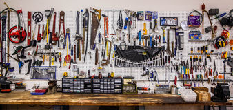 The Great Wall Of Tools Royalty Free Stock Photo