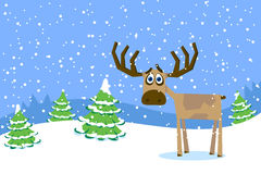 The Handsome Man A Reindeer Royalty Free Stock Photos