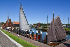 Free The Harbor Of The Open Air Museum Enkhuizen With Old Dutch Fishing Boats Royalty Free Stock Photos - 198221188