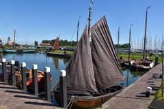 Free The Harbor Of The Zuiderzee Museum With The Old Fishing Boats Of Enkhuizen Royalty Free Stock Photo - 198029915