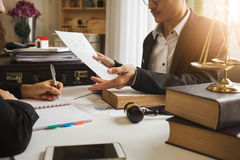 Free The Hard Work Of An Asian Lawyer In A Lawyer Office. Royalty Free Stock Image - 98079316
