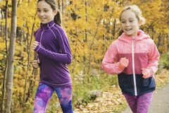 Free The Healthy Lifestyle Girl Running In Park On Autumn Season Stock Photos - 200567643