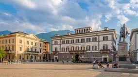 Free The Heart Of Sondrio Is Its Central Garibaldi Square. Stock Photos - 61598713