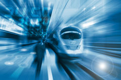 Free The High-speed Train With Motion Blur Royalty Free Stock Photography - 18450137