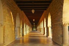 Free The Historic Corridor In Stanford University, California Stock Photo - 129611330