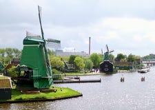 Free The Historic Dutch Windmills And Farmhouses In Zaanse Schans, Zaandam, Netherlands Royalty Free Stock Photos - 146436918
