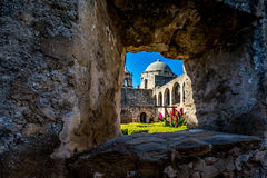 Free The Historic Old West Spanish Mission San Jose, Founded In 1720, San Antonio, Texas, USA. Showing Dome, Bell Tower, And Cross In Stock Image - 51447891