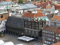 The Historic Town Hall Of Luebeck Royalty Free Stock Images