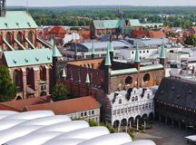 The Historical City Hall In Luebeck Royalty Free Stock Photo