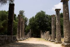 The Historical Site Of Olympia Royalty Free Stock Photography