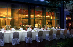 The Hotel Restaurant Royalty Free Stock Photography